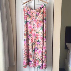 LuLaRoe Floral Maxi Skirt Size XL
